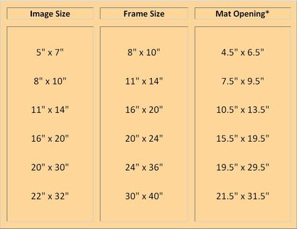 What Are Standard Frame Sizeat Openings
